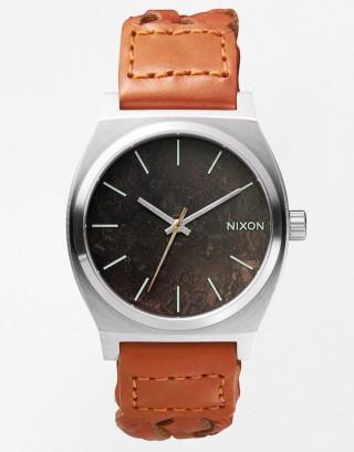 Reloj Nixon Time Teller con correa de cuero marrón