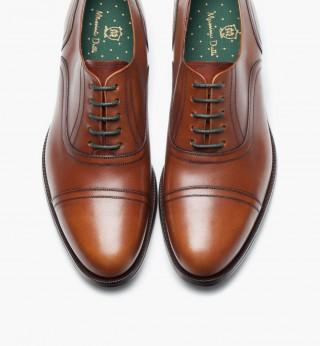 Zapatos Massimo Dutti tipo inglés de vestir en color cuero