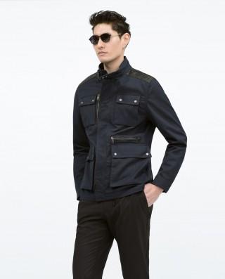 Parka de 4 bolsillos en algodón y lino – Zara Hombre