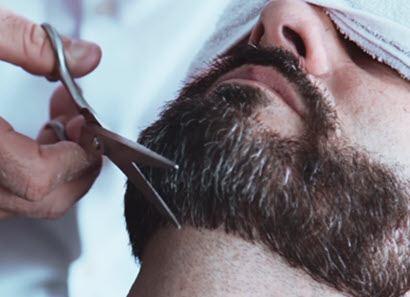 Recorte de la barba y bigote